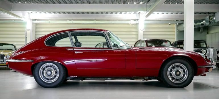 Two-seat red convertible