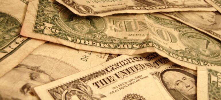 Stacks of paper money